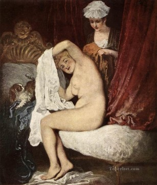 oil Works - The Toilette Jean Antoine Watteau classic Rococo